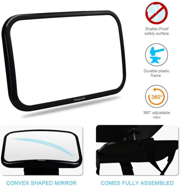 Baby mirror for car back seat rental